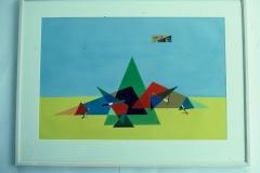 Framed Gouache Painting